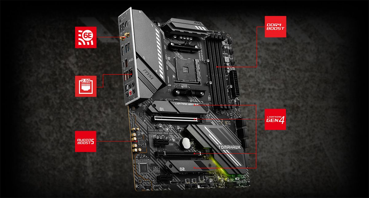 MSI MAG X570S TOMAHAWK MAX WIFI LIGHTNING overview