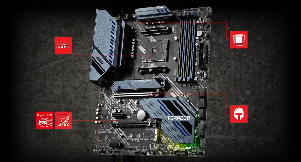 MSI MAG X570S TORPEDO MAX CORNERSTONE overview