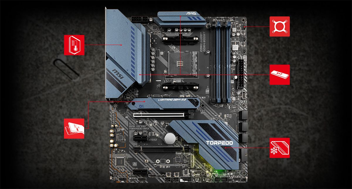 MSI MAG X570S TORPEDO MAX THERMAL overview