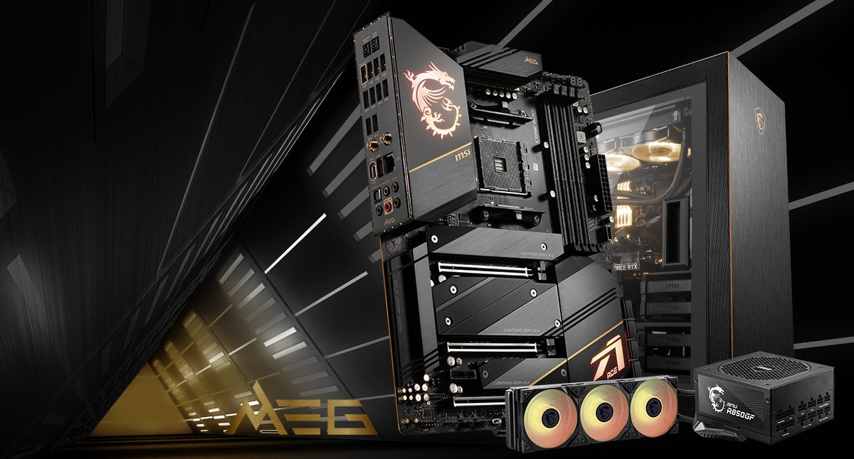 MSI MEG X570S ACE MAX & MPG SEKIRA 500G & MPG CORELIQUID K360 & MPG A850GF