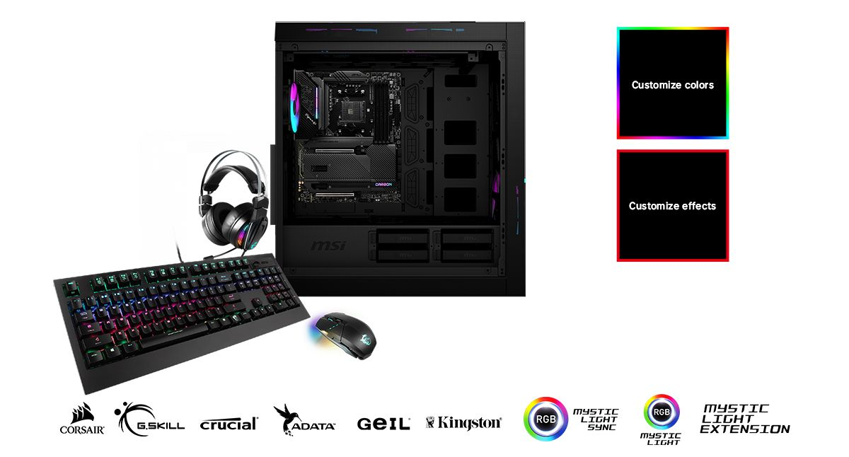 MSI MPG X570S CARBON MAX WIFI CUSTOMIZE YOUR GAMING RIG