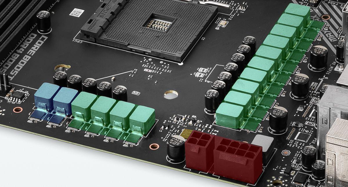 MSI MPG X570S CARBON MAX WIFI 14 + 2 DUET RAIL POWER SYSTEM