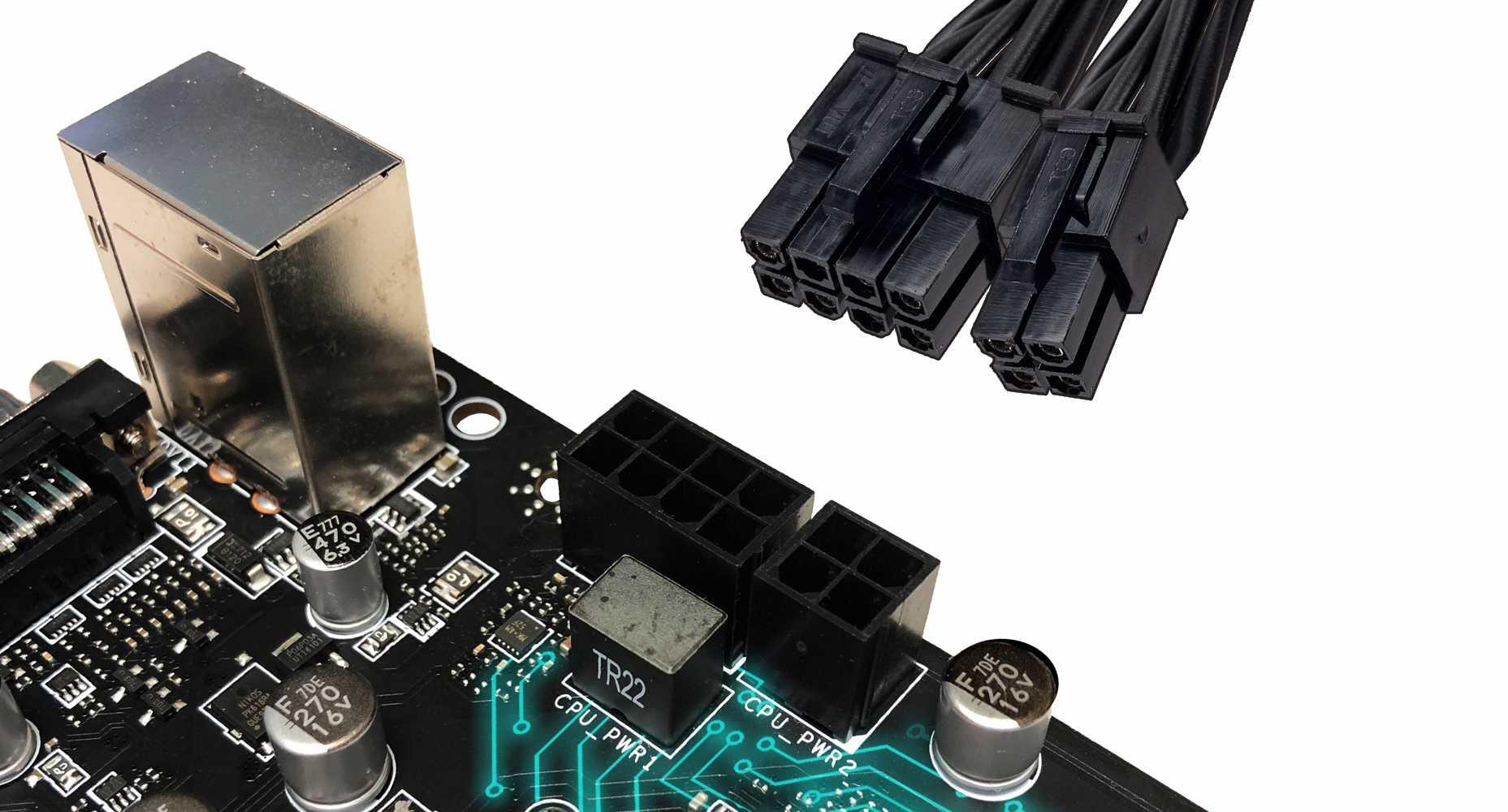 MSI MAG Z490 TOMAHAWK 8+4 POWER CONNECTORS