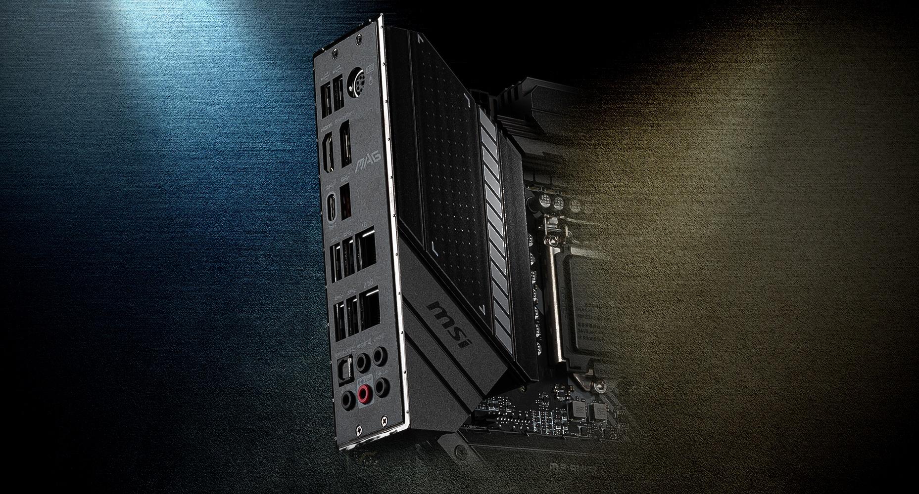 MSI MAG Z490 TOMAHAWK PRE-INSTALLED IO SHIELDING