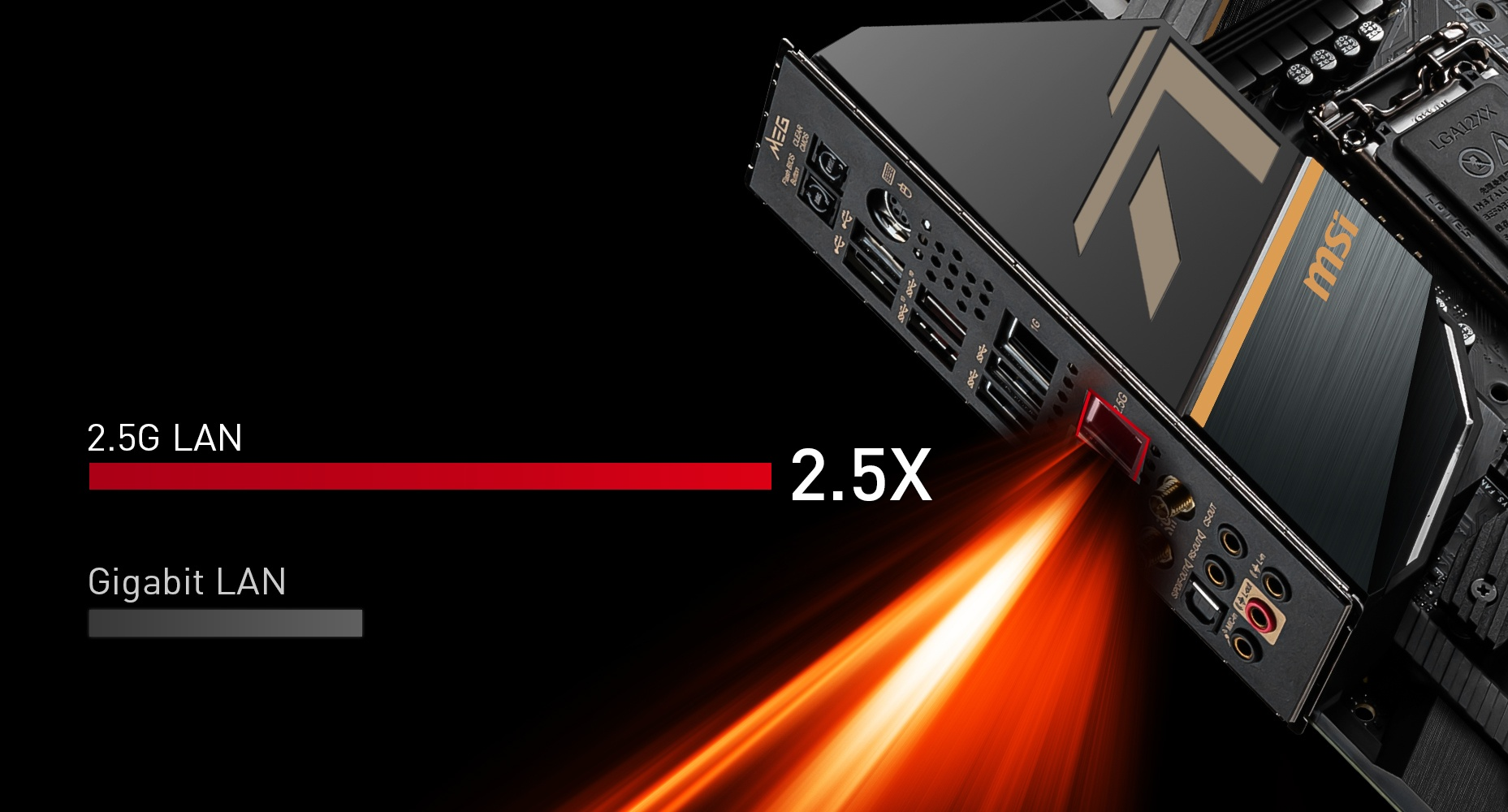 MSI MEG Z490 ACE DUAL LAN WITH 2.5G LAN