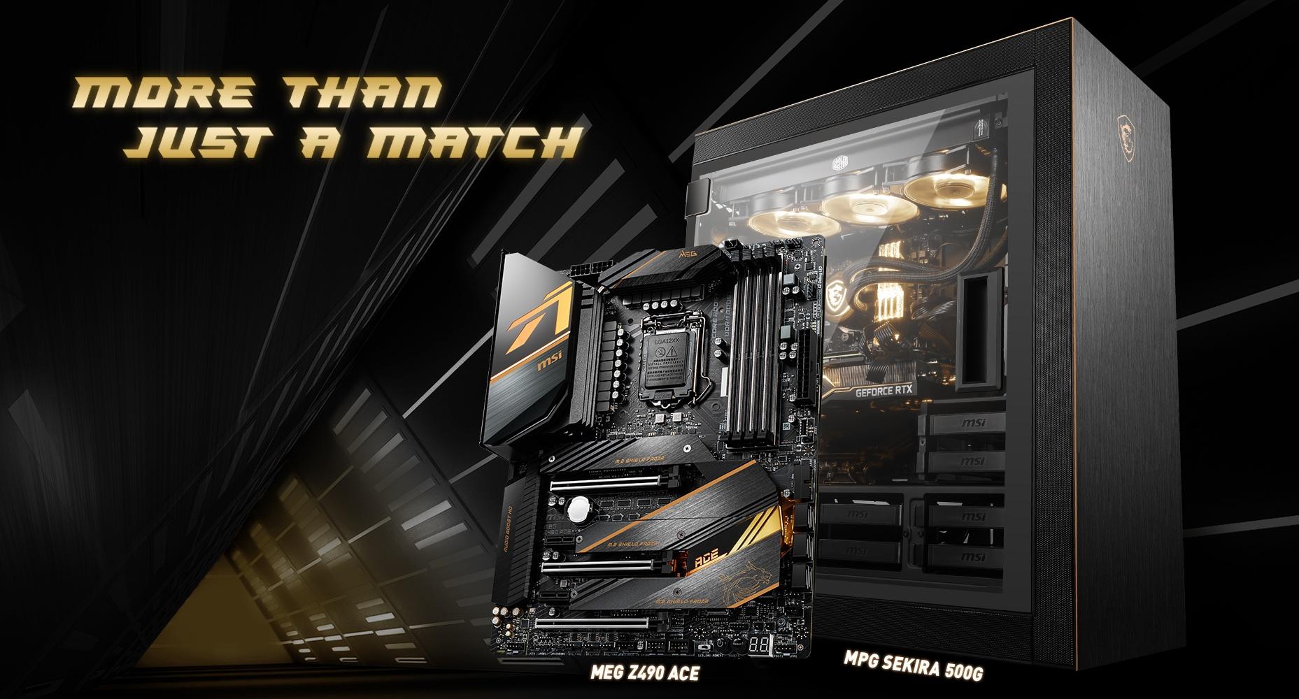 MSI MEG Z490 ACE & MPG SEKIRA 500G