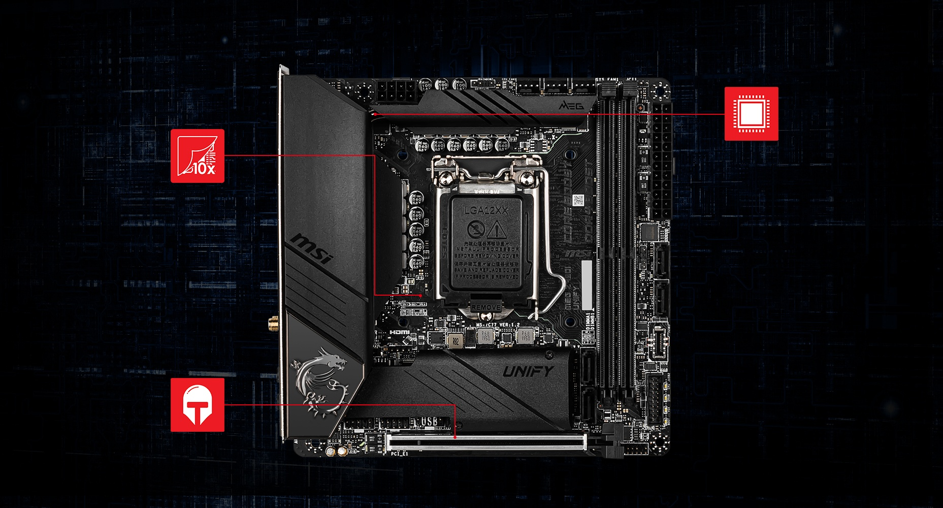 MSI MEG Z490I UNIFY THERMAL overview