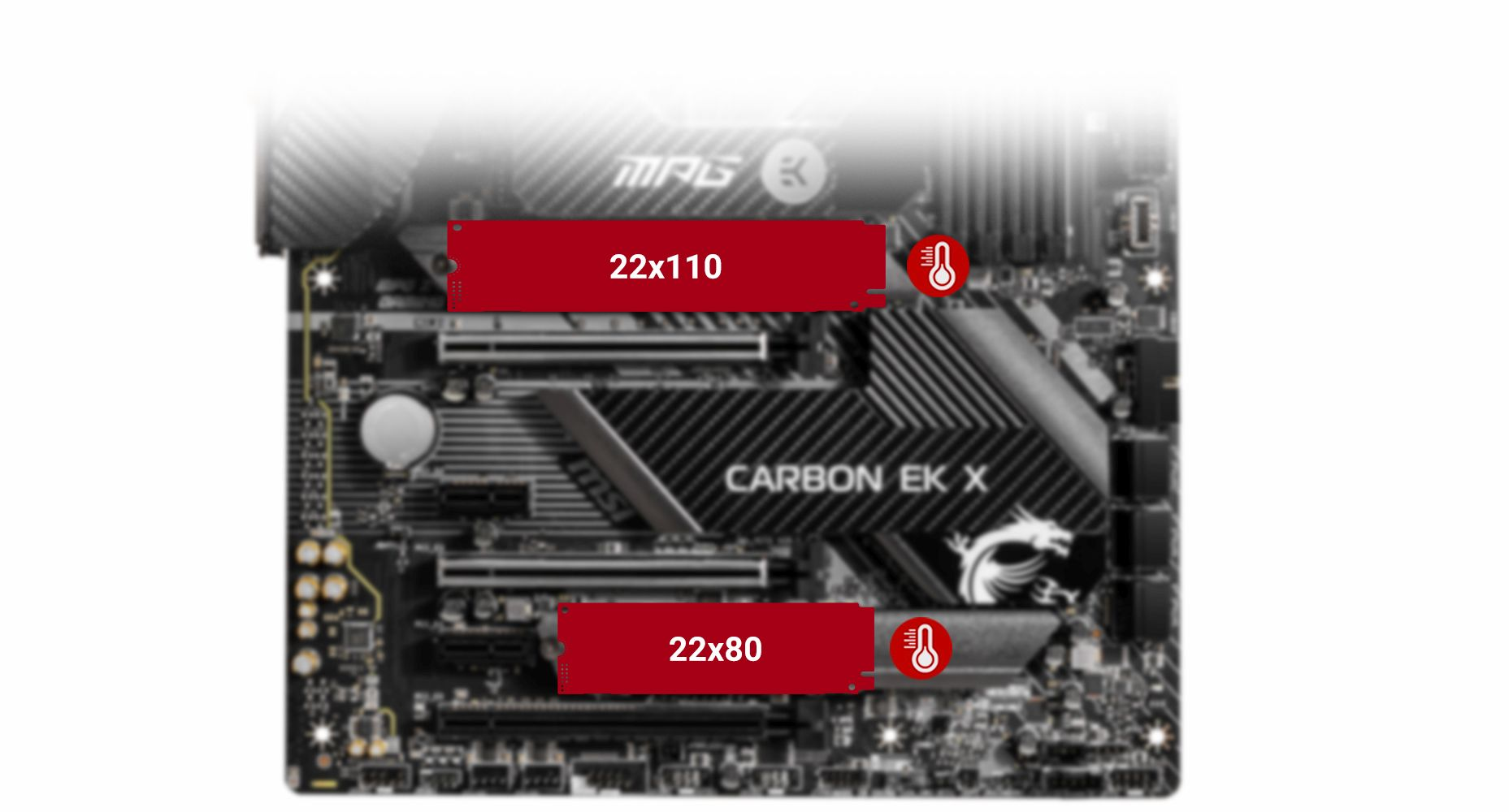 MSI MPG Z490 CARBON EK X TWIN TURBO M.2 and M.2 SHIELD FROZR