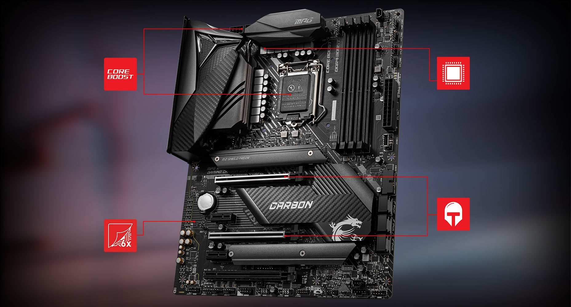 MSI MPG Z490 GAMING CARBON WIFI CORNERSTONE overview