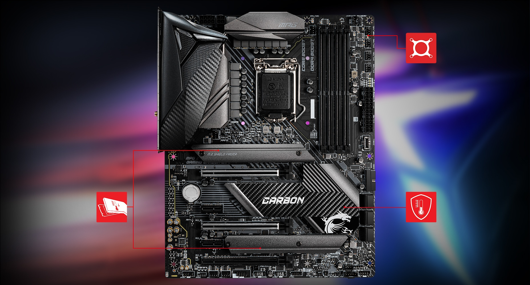 MSI MPG Z490 GAMING CARBON WIFI THERMAL overview