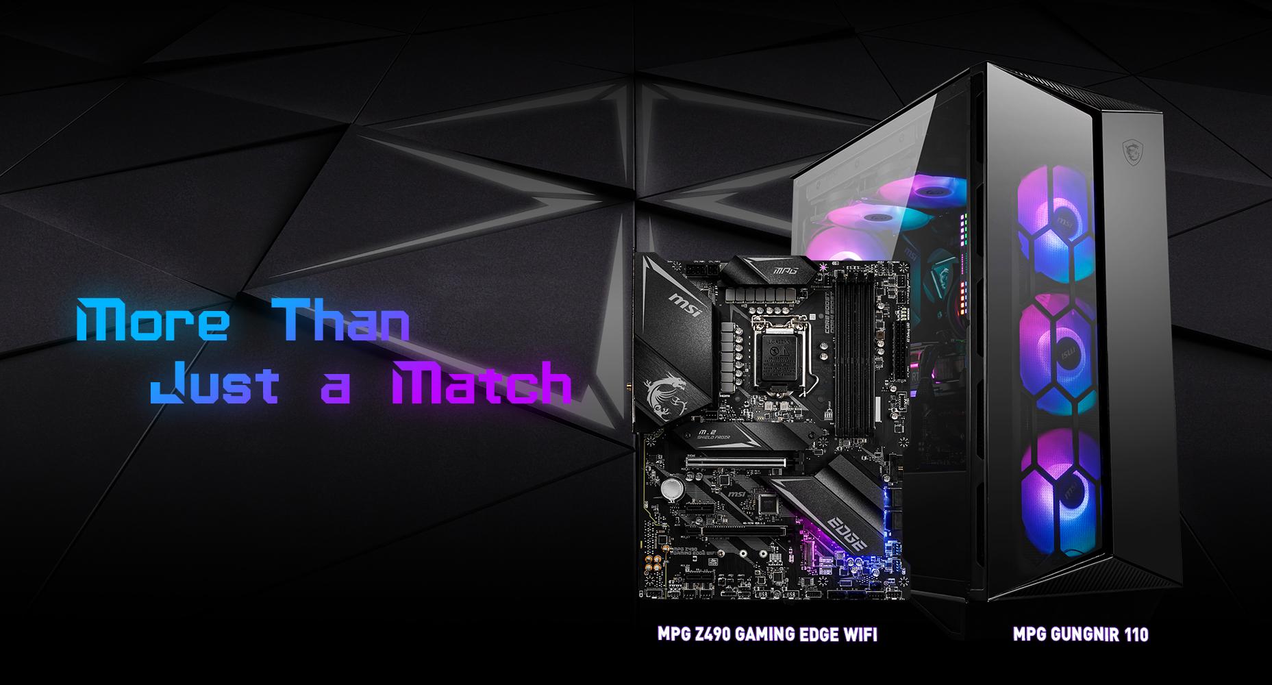 MSI MPG Z490 GAMING EDGE WIFI & MPG SEKITA 500X