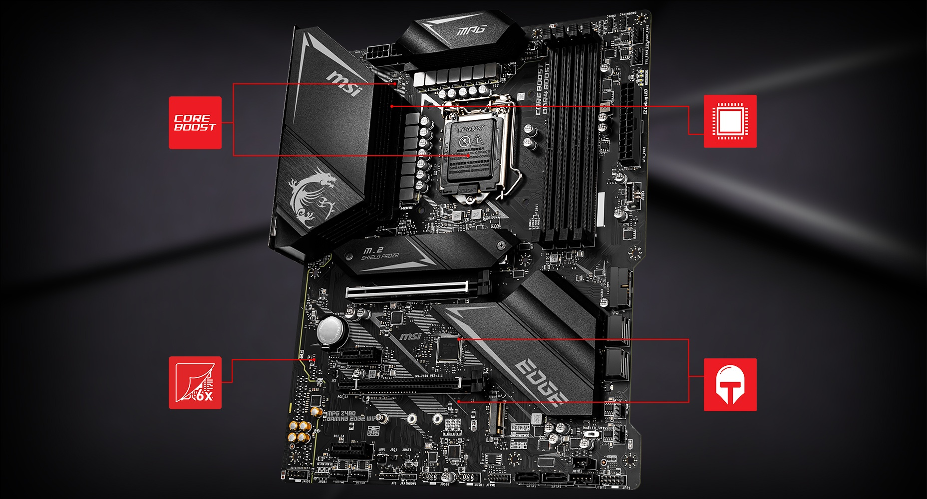 MSI MPG Z490 GAMING EDGE WIFI CORNERSTONE overview
