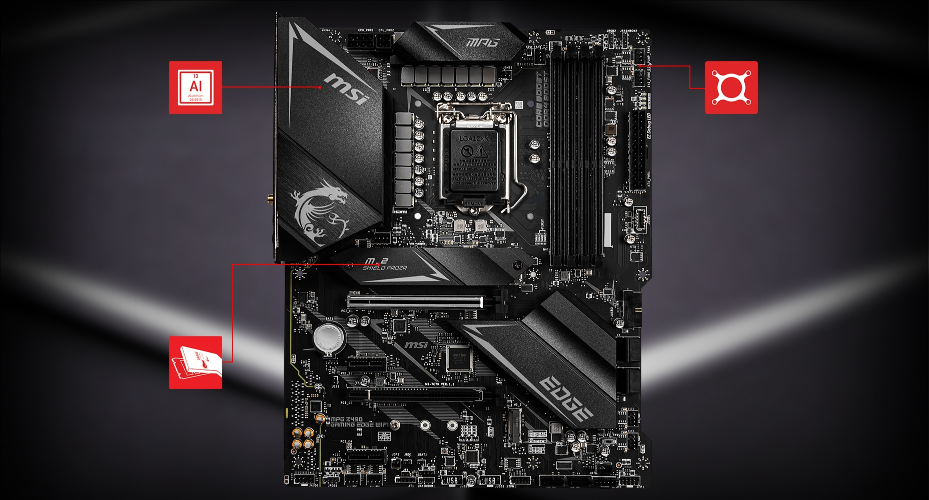 MSI MPG Z490 GAMING EDGE WIFI THERMAL overview