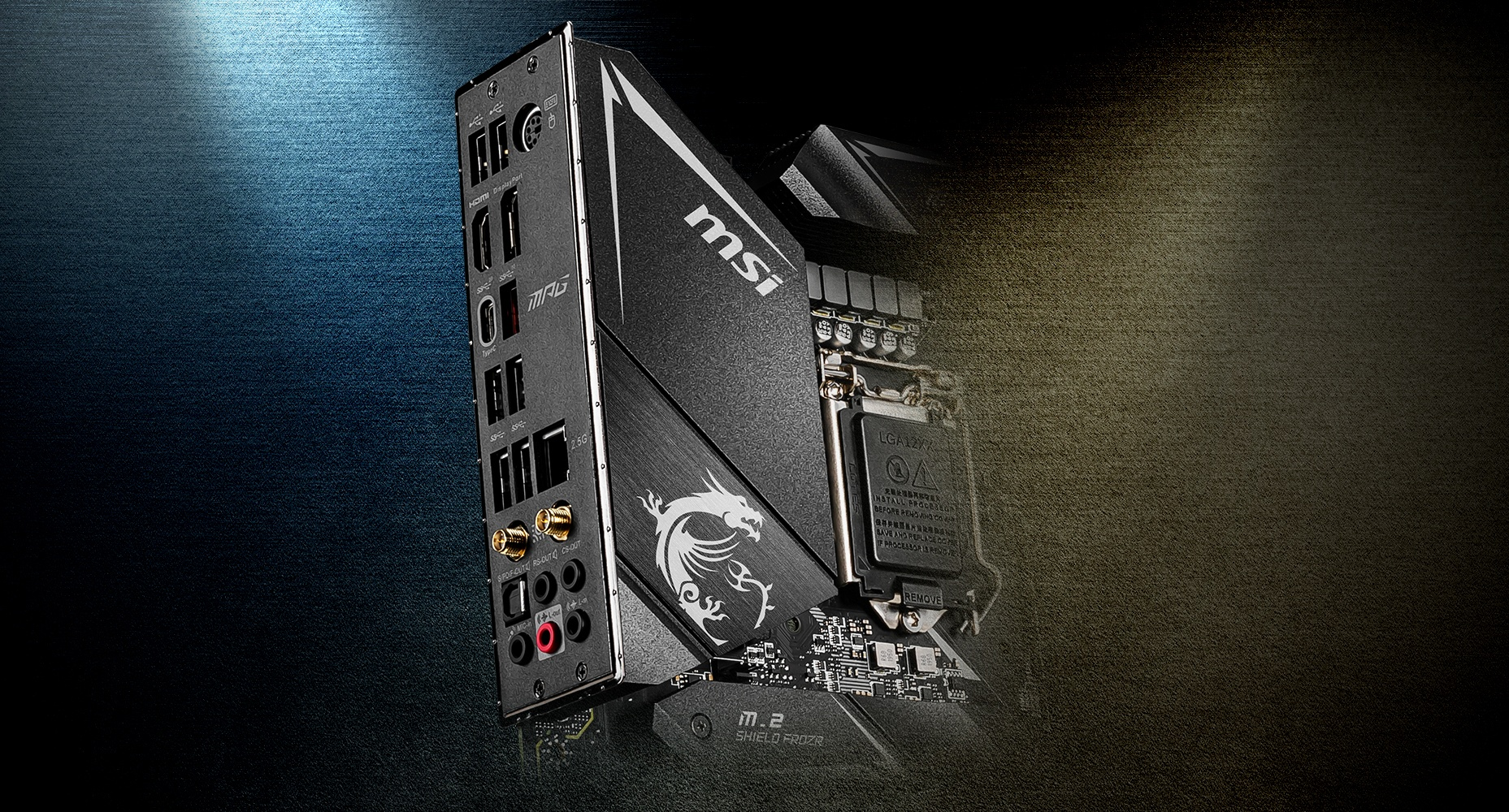 MSI MPG Z490 GAMING EDGE WIFI PRE-INSTALLED IO SHIELDING
