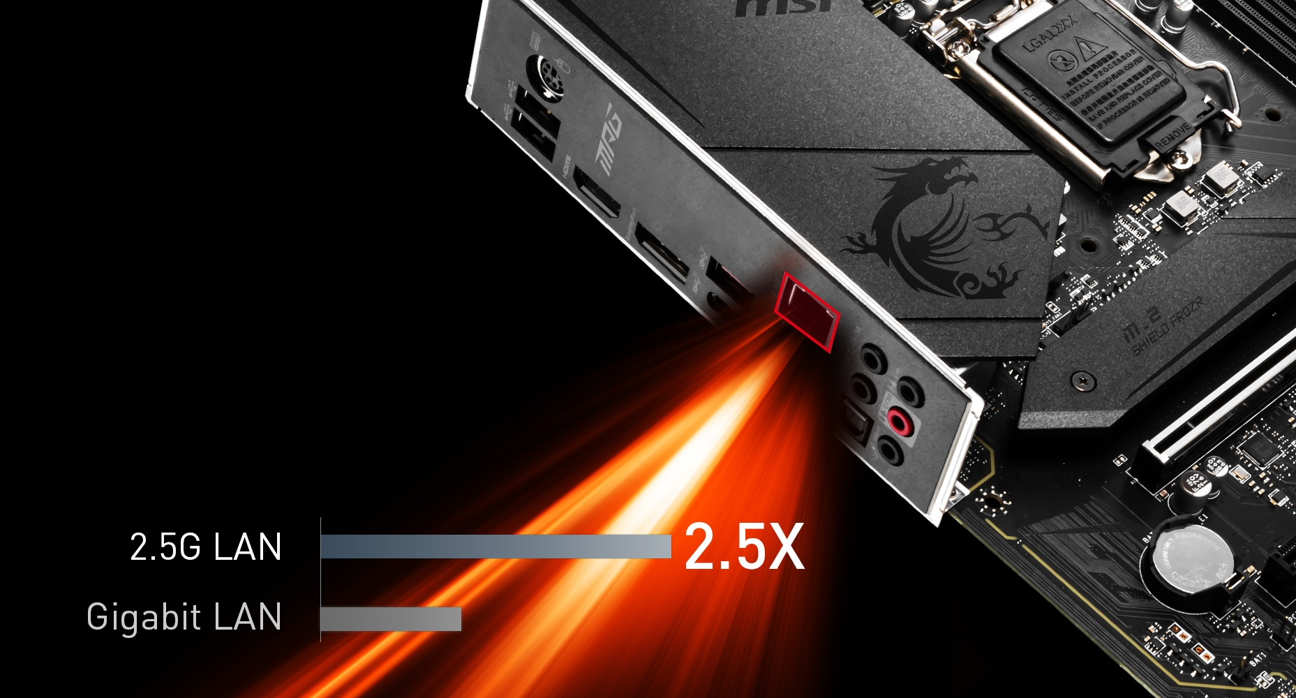MSI MPG Z490 GAMING PLUS MAXIMIUM DATA TRANSFER WITH 2.5G LAN
