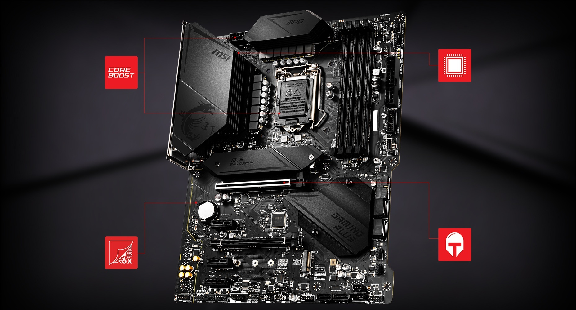 MSI MPG Z490 GAMING PLUS CORNERSTONE overview