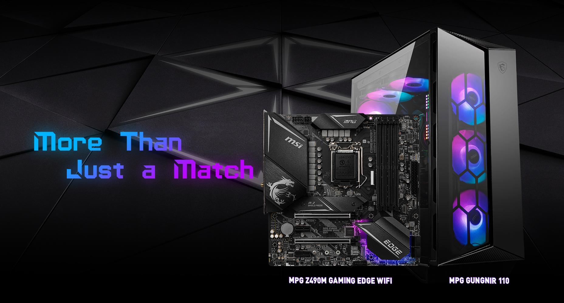 MSI MPG Z490M GAMING EDGE WIFI & MPG SEKITA 500X