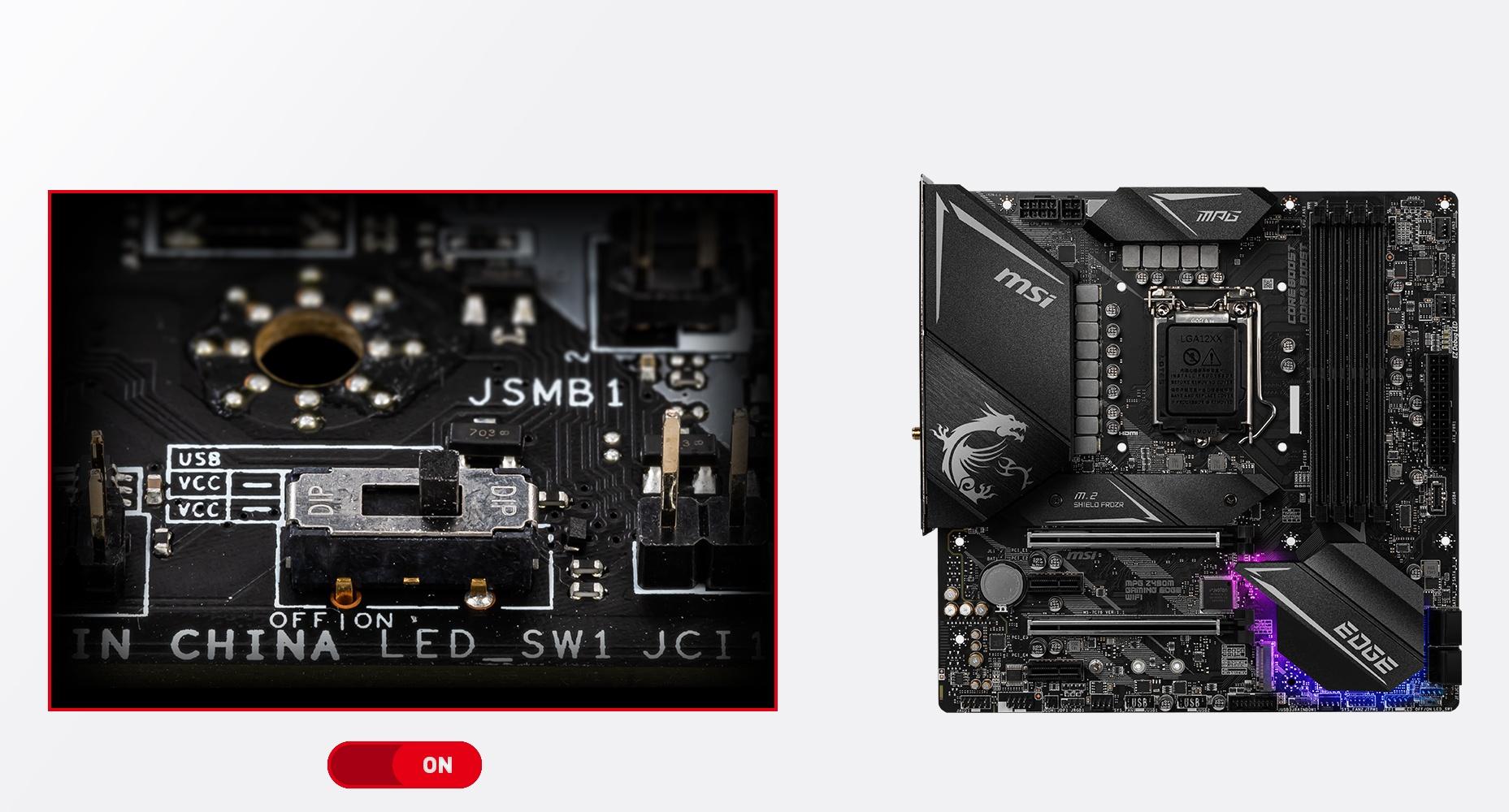 MSI MPG Z490M GAMING EDGE WIFI EZ LED CONTROL