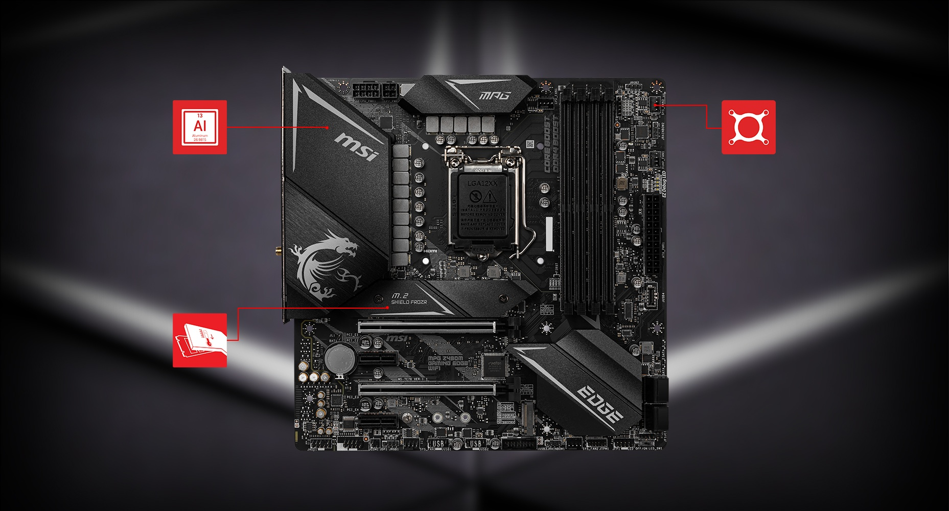 MSI MPG Z490M GAMING EDGE WIFI THERMAL overview