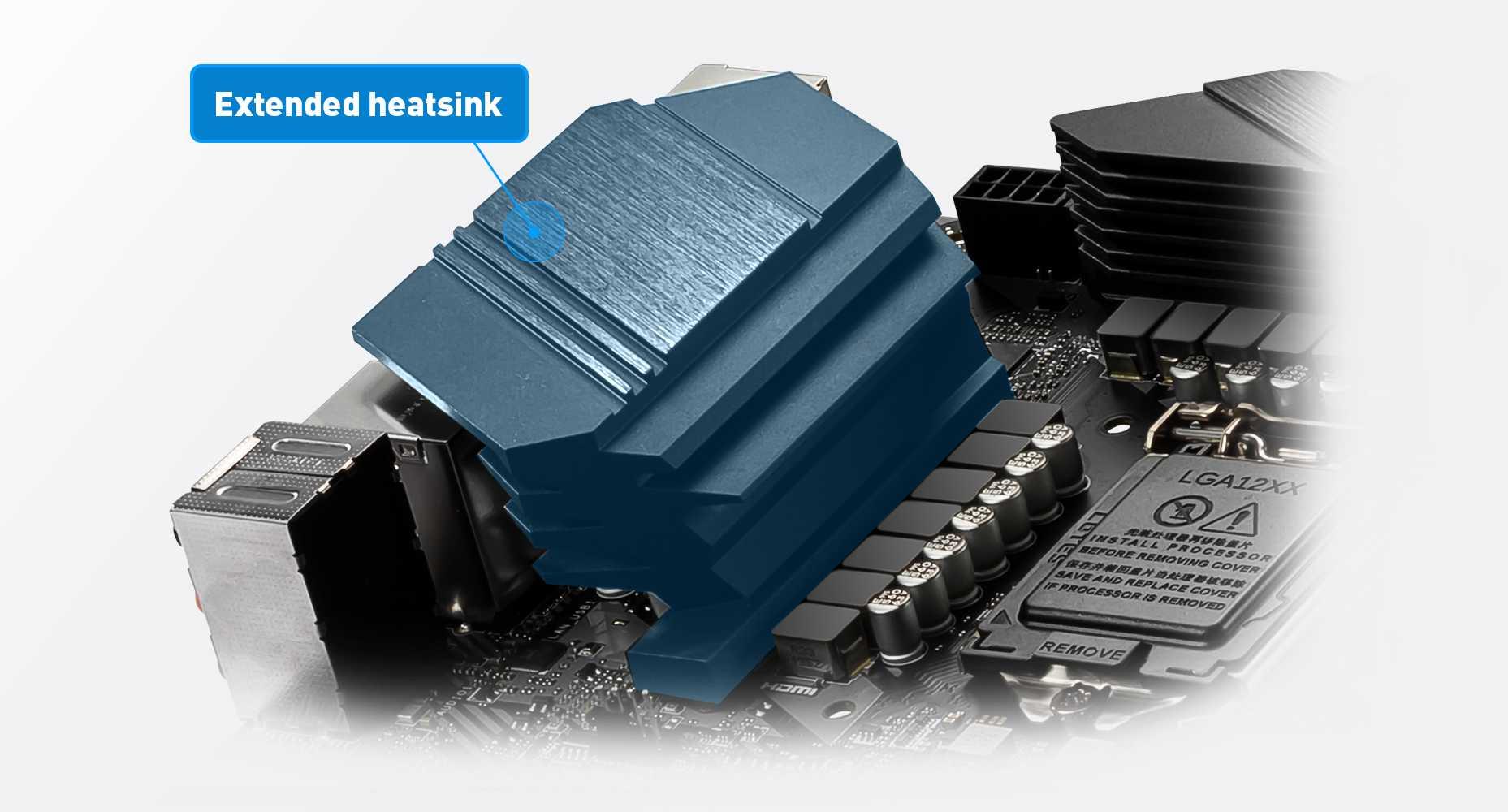 MSI Z490-A PRO EXTENDED HEATSINK