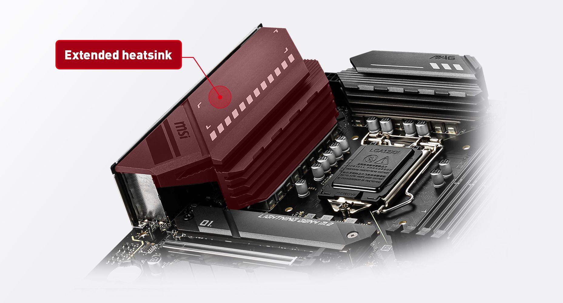 MSI MAG Z590 TOMAHAWK WIFI EXTENDED HEATSINK