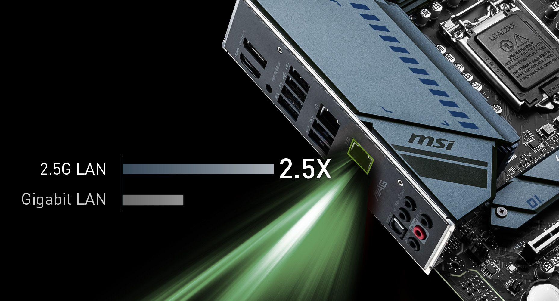 MSI MAG Z590 TORPEDO DUAL LAN WITH 2.5G LAN