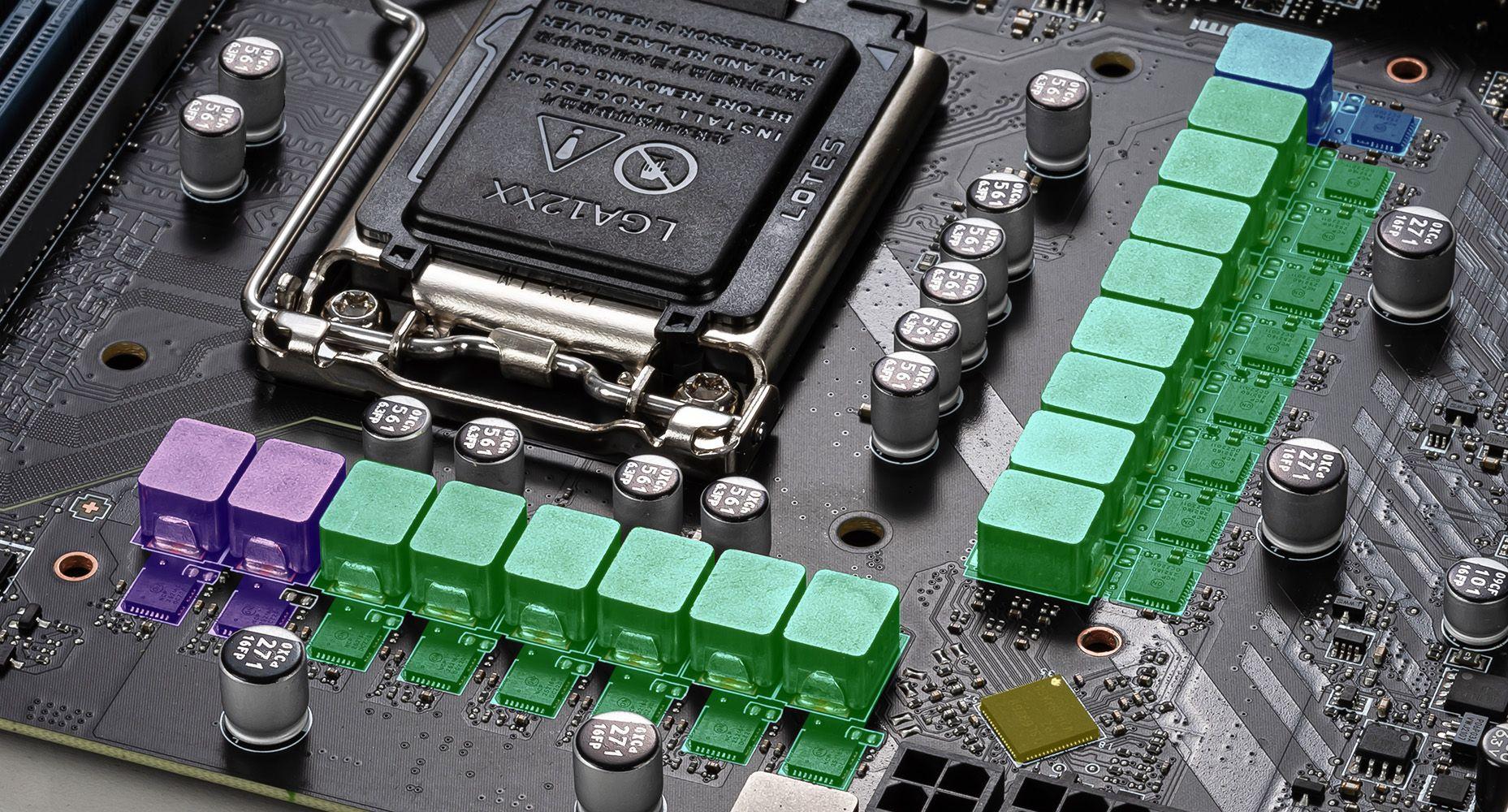 MSI MAG Z590 TORPEDO DUET RAIL POWER SYSTEM