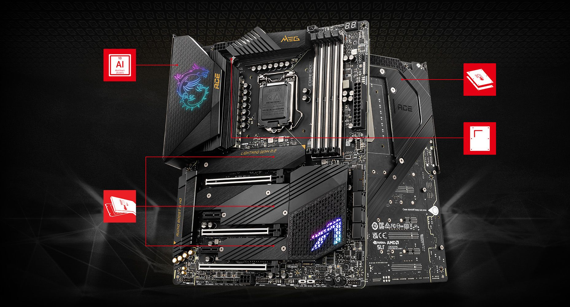 MSI MEG Z590 ACE CORNERSTONE overview