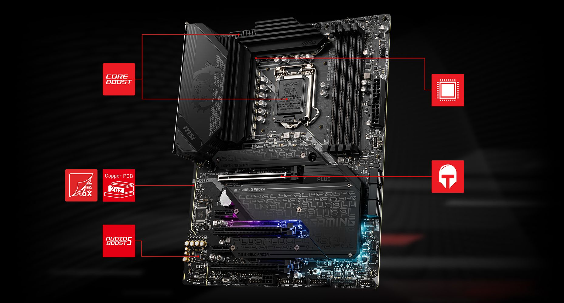 MSI MPG Z590 GAMING PLUS CORNERSTONE overview