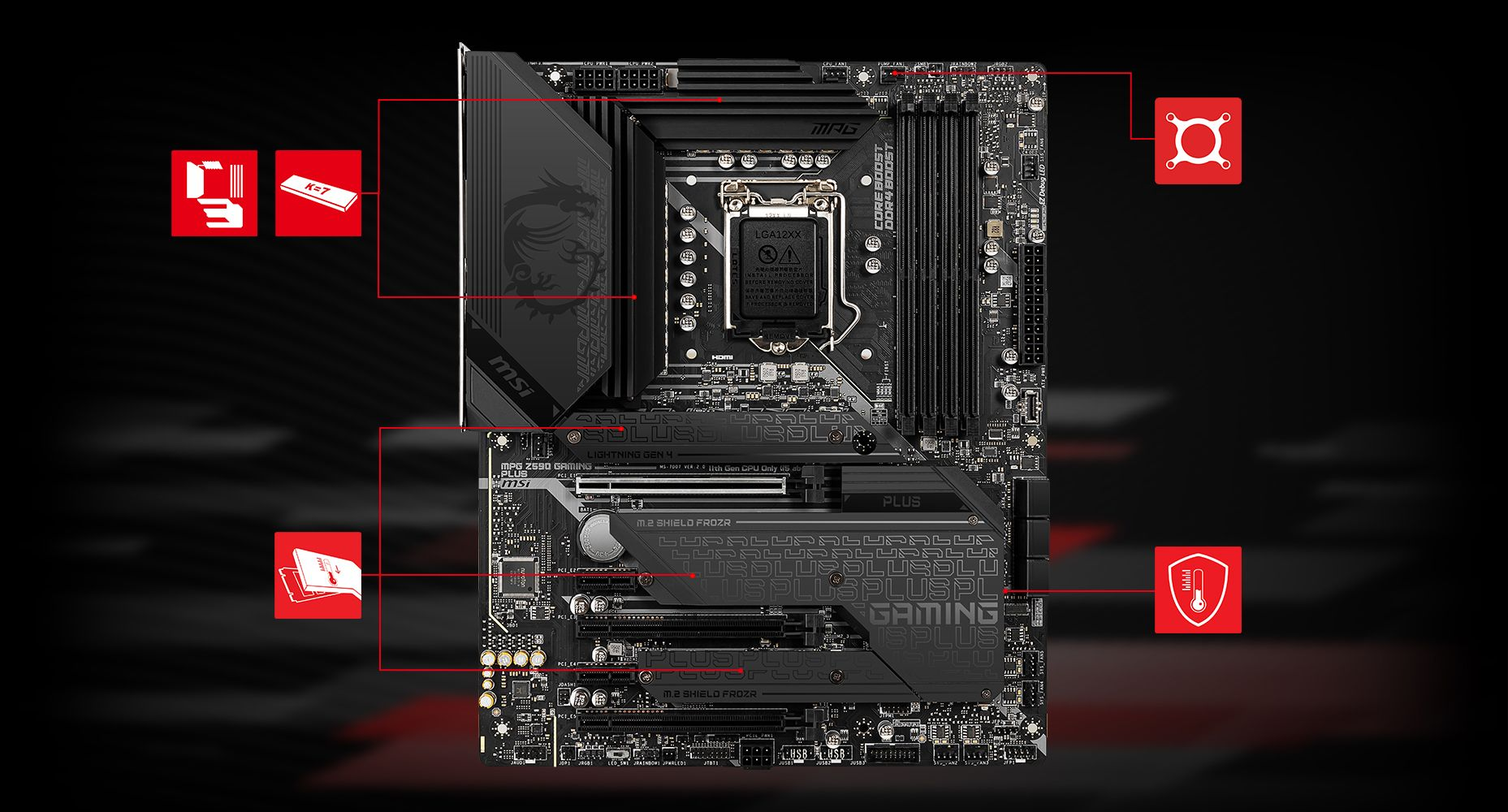 MSI MPG Z590 GAMING PLUS THERMAL overview