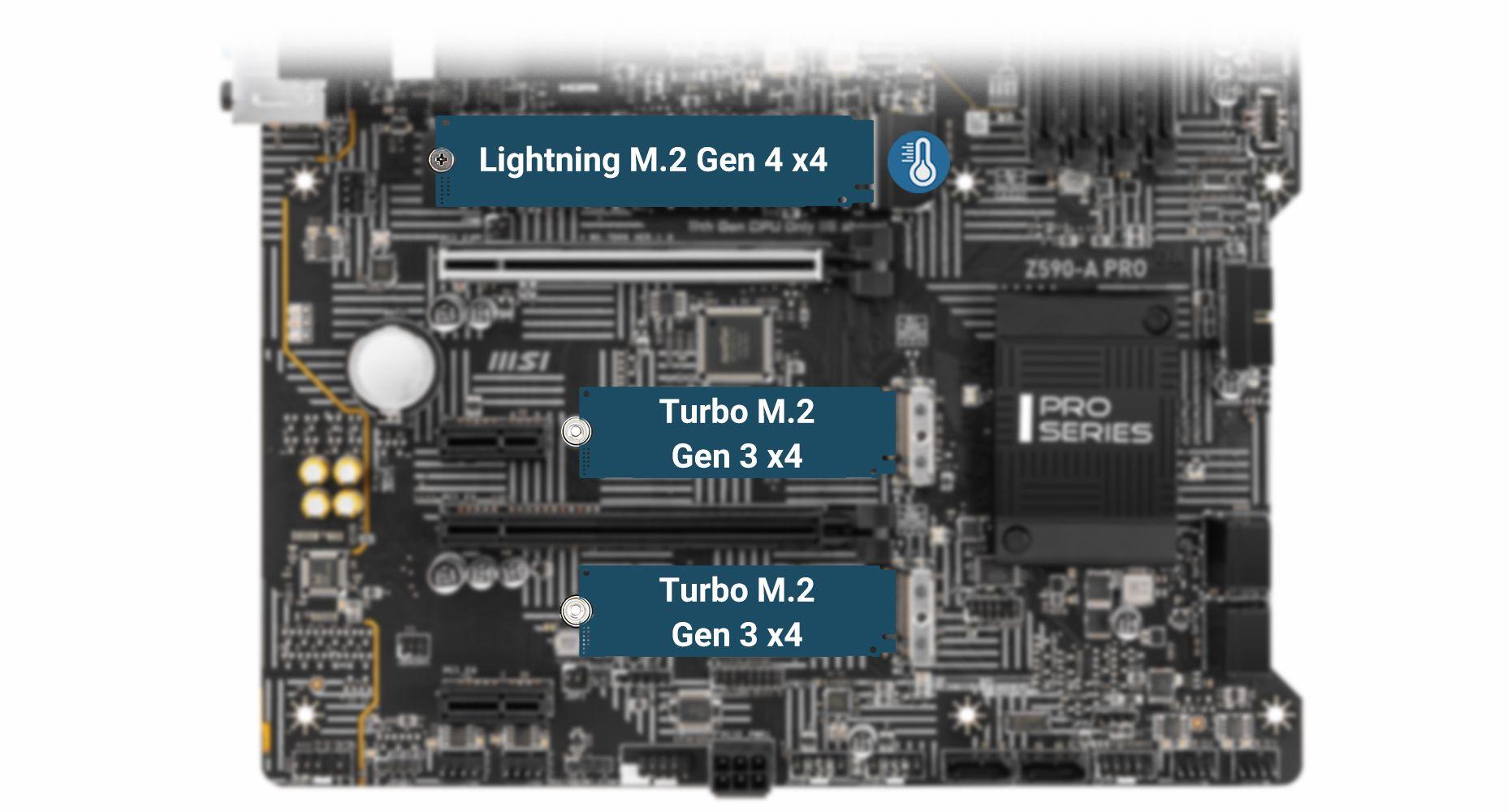 MSI Z590-A PRO LIGHTNING GEN 4 M.2 WITH M.2 SHIELD FROZR
