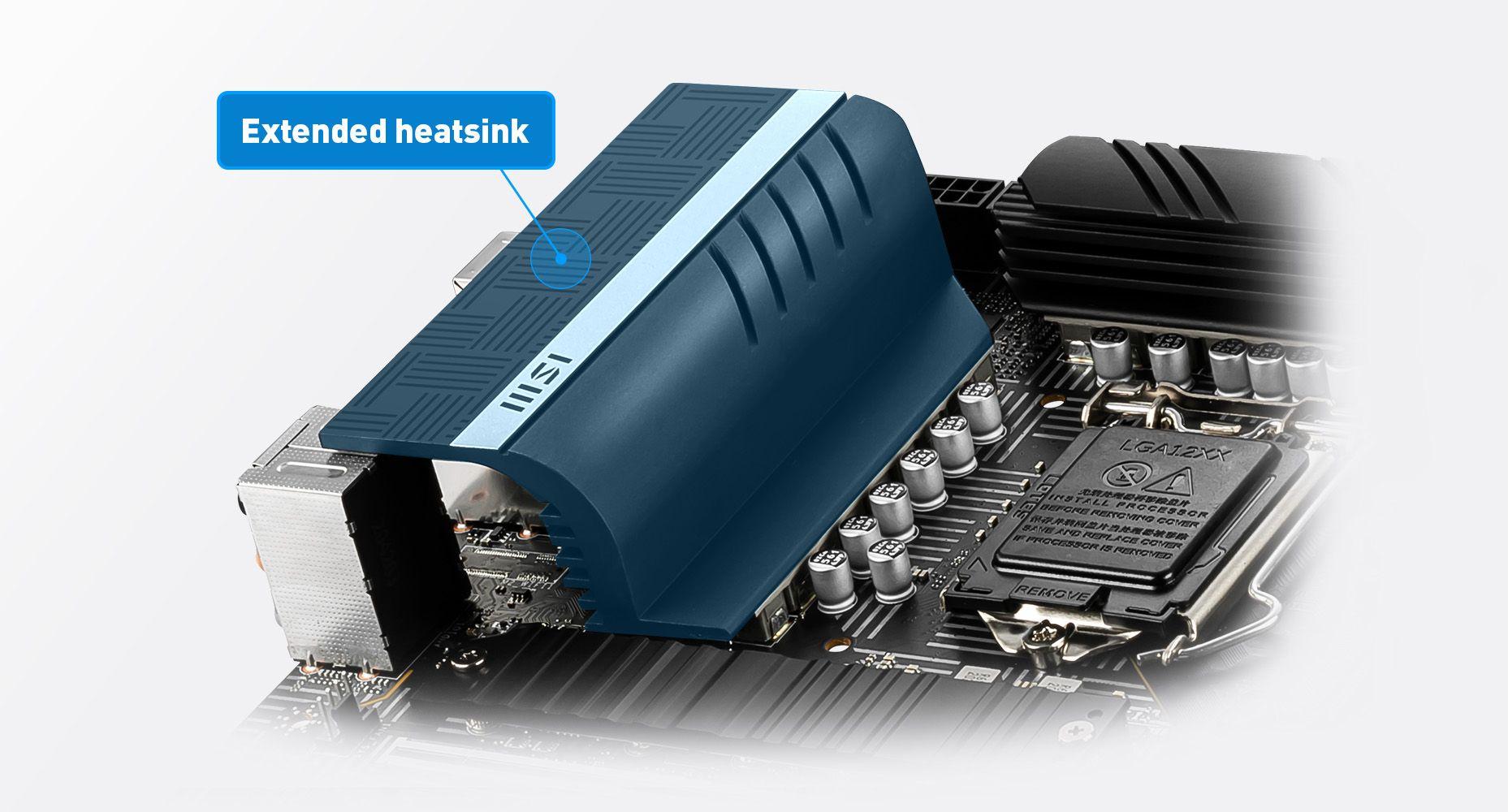 MSI Z590-A PRO EXTENDED HEATSINK