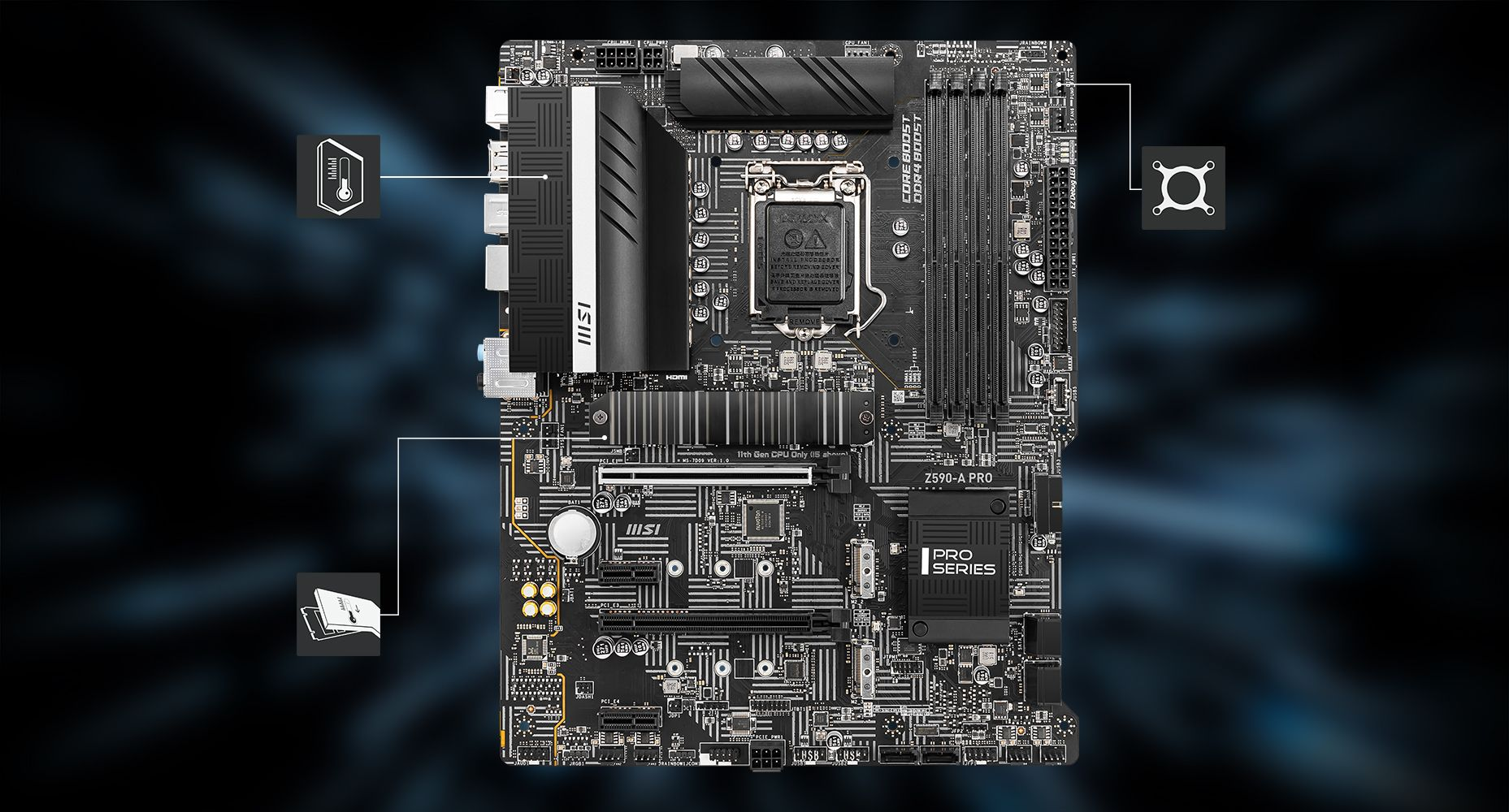 MSI Z590-A PRO THERMAL overview