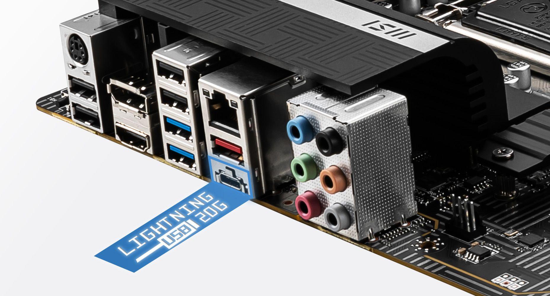 MSI Z590-A PRO FASTER LIGHTNING USB 20G