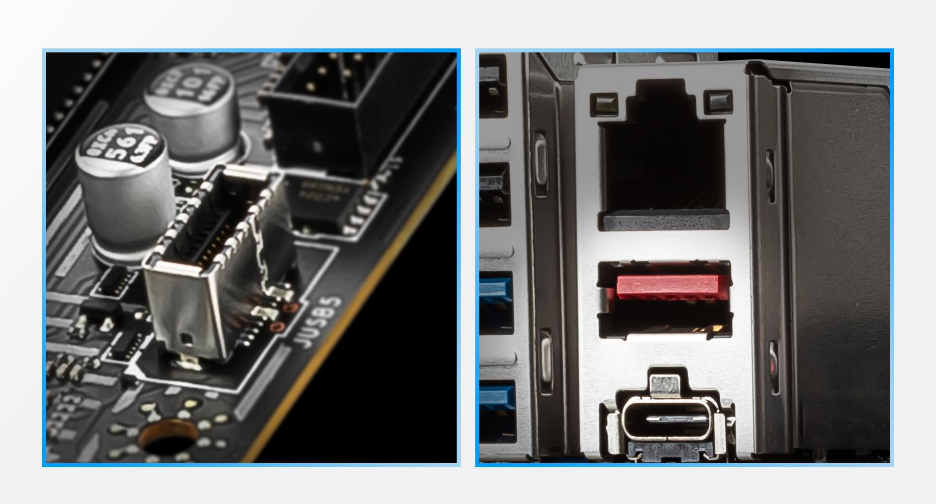 MSI Z590-A PRO USB Type-C ready in both Front case panel & Rear IO