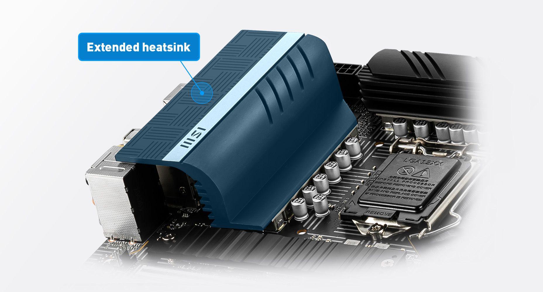 MSI Z590 PRO WIFI EXTENDED HEATSINK