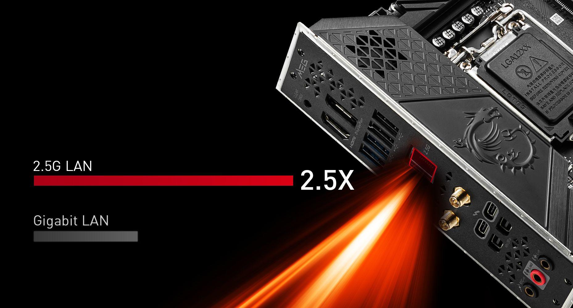 MSI MEG Z590I UNIFY MAXIMIUM DATA TRANSFER WITH 2.5G LAN