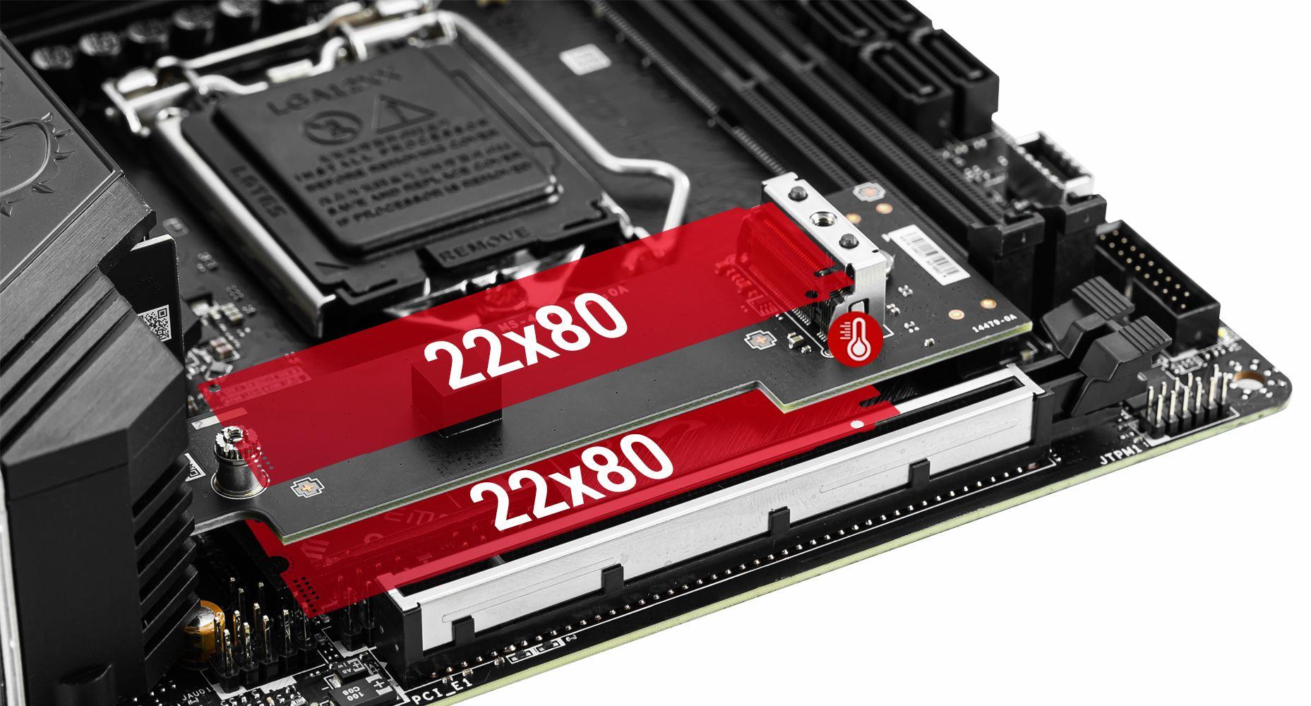 MSI MEG Z590I UNIFY Dual M.2 Connectors
