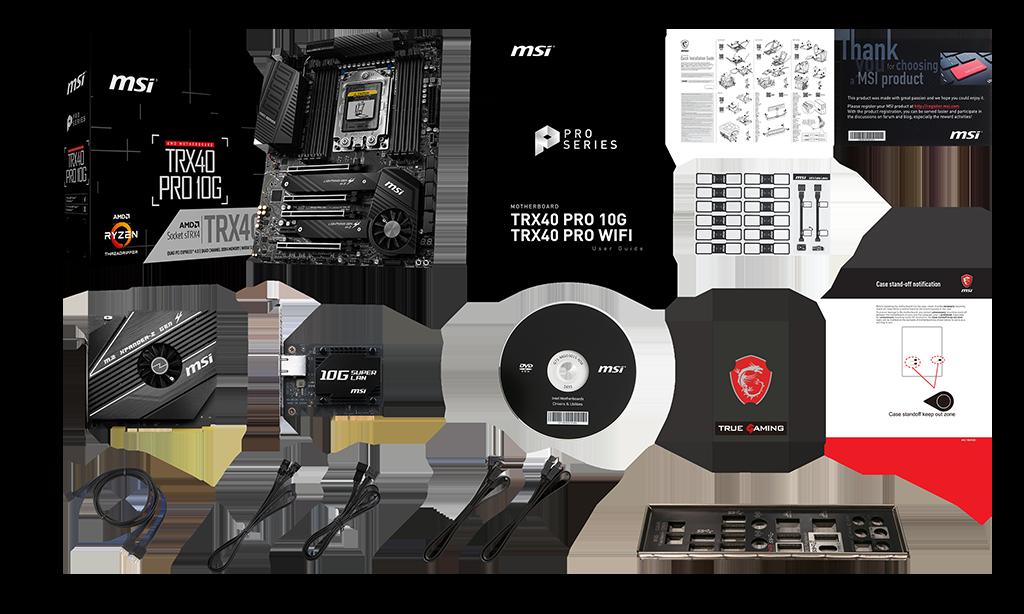 MSI TRX40 PRO 10G box content