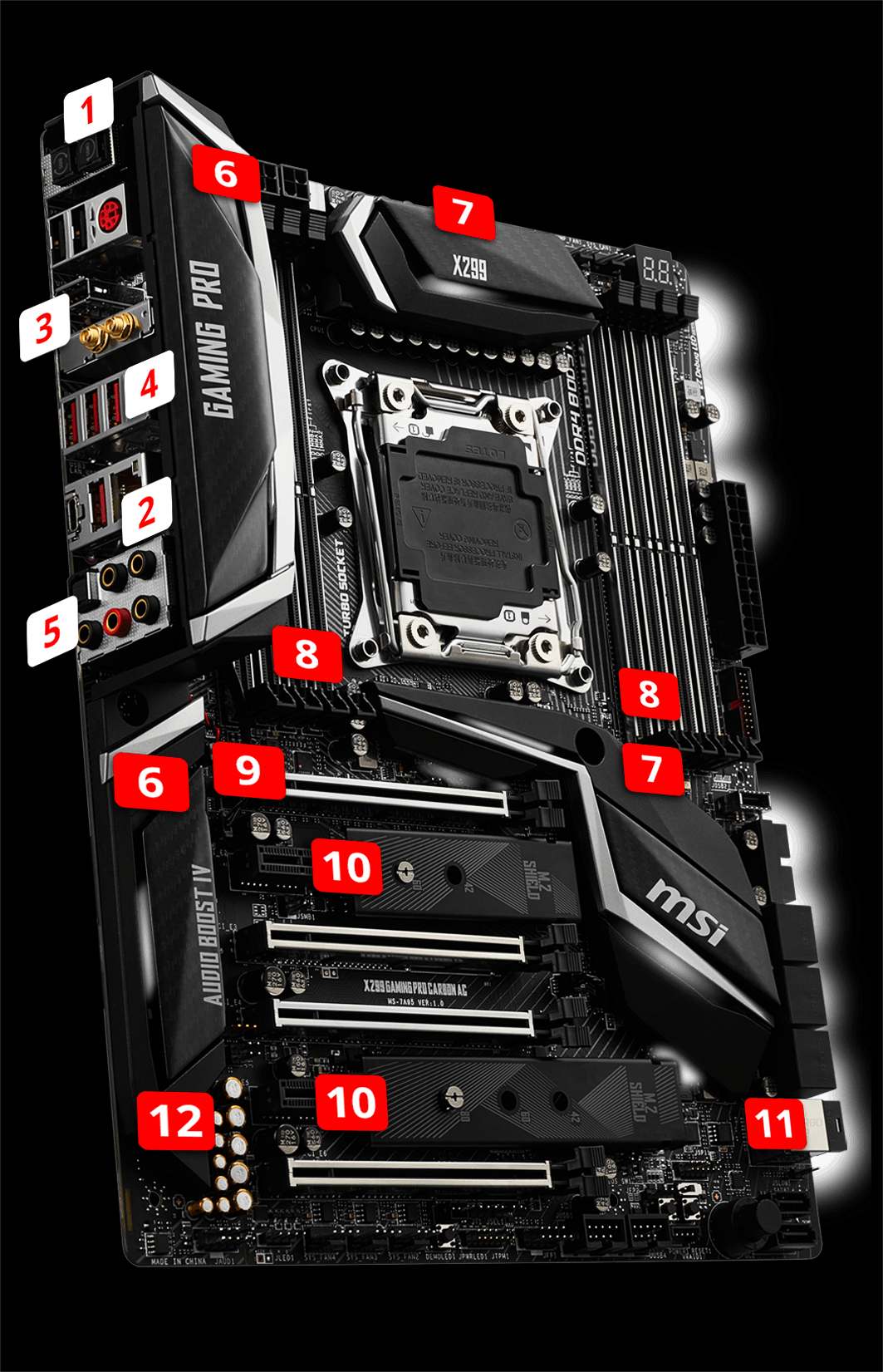 16GB X299 Gaming PRO Carbon AC Memory Ram Compatible with MSI Motherboard X299 Gaming M7 ACK X299 SLI Plus by CMS c112 2X8GB X299 Raider