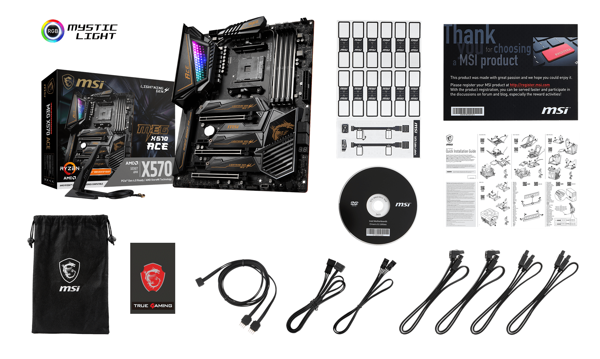 MSI MEG X570 ACE box content