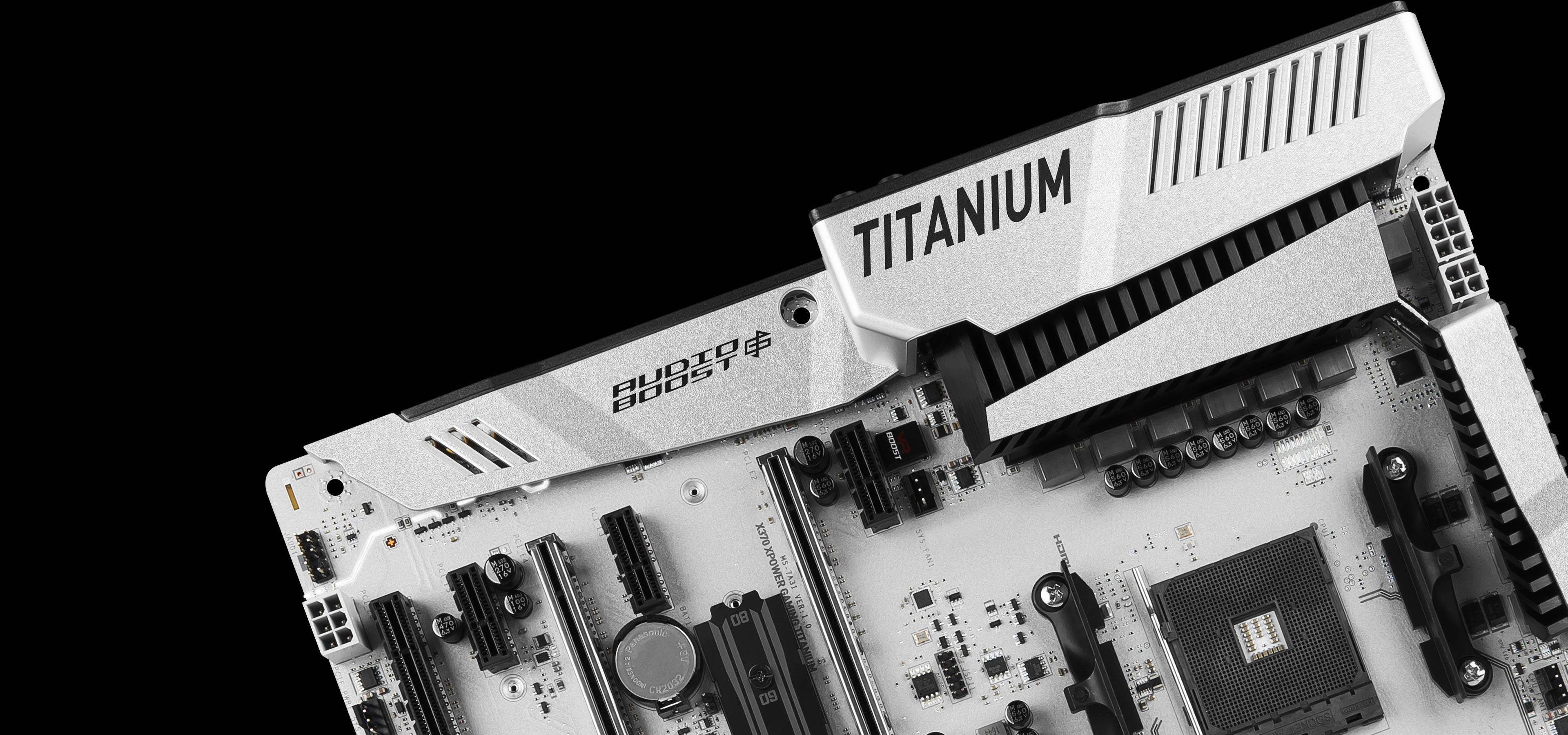 X370 Xpower Gaming Titanium Motherboard The World Leader In There Are 2 Boards Main Board And A Second One For Controls Rigorous Quality Testing Under Most Extreme Conditions Ensures Super Reliable High Performance
