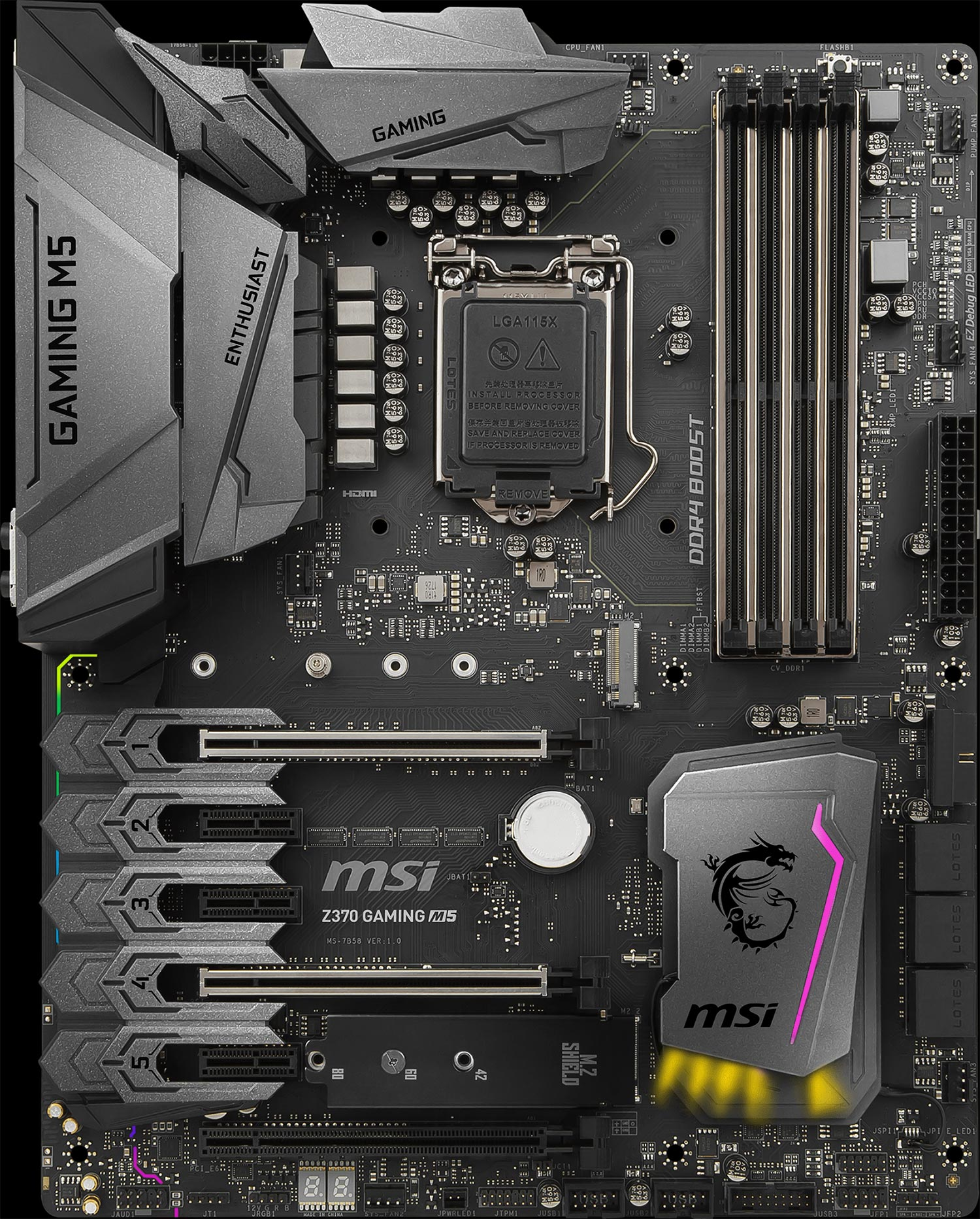 MSI Z370 Gaming M5 Enthusiast Intel Coffee Lake LGA 1151 DDR4 ATX Motherboard