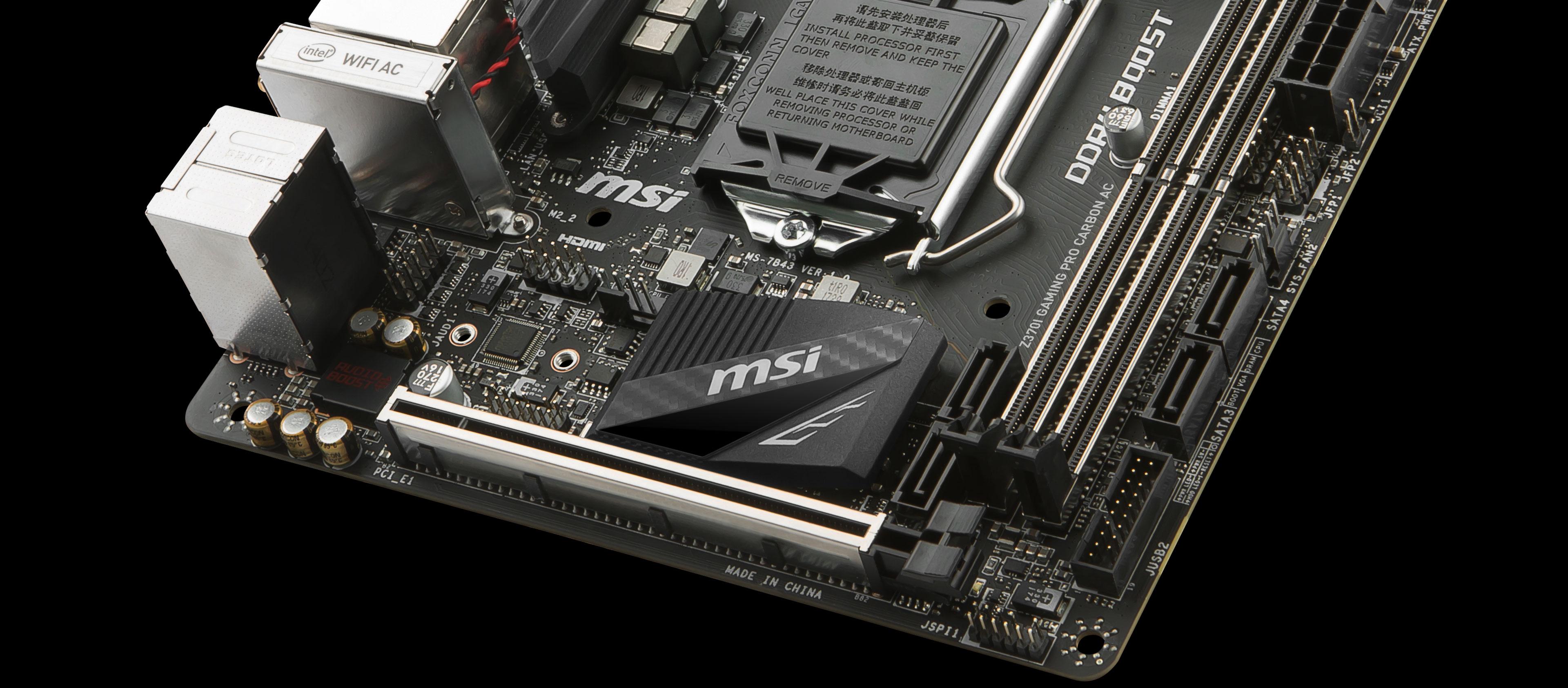 MSI Z370I GAMING PRO CARBON AC LGA1151// Intel Z370// DDR4// SATA3/&USB3.1// M.2//