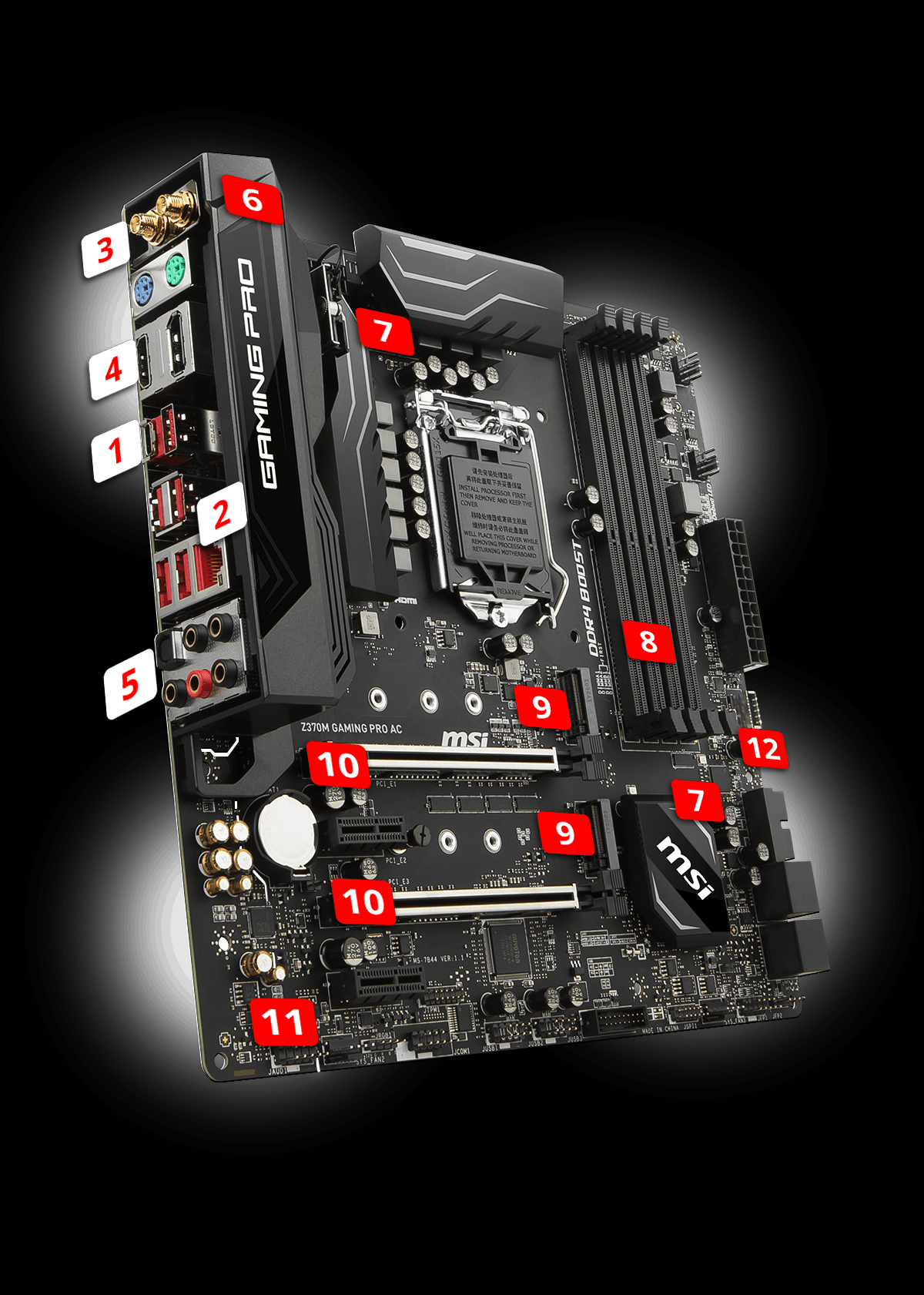 Z370m Gaming Pro Ac Motherboard The World Leader In Pc Computer Atx Power Supply Schematic Diagram Lightning Usb 31 Gen2