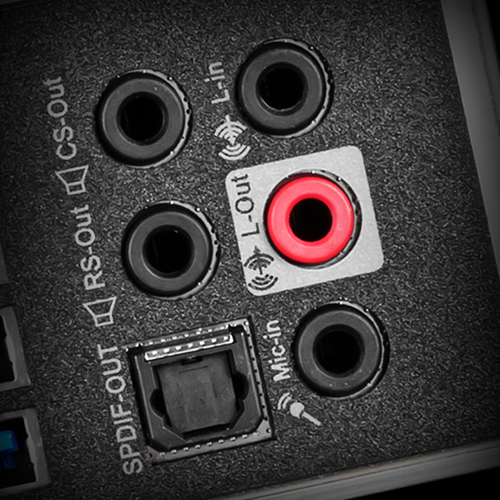 HIGH QUALITY AUDIO JACKS WITH S/PDIF