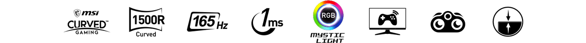 Optix AG321CQR featuer icons