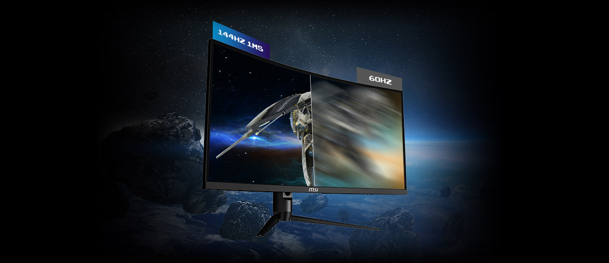 144HZ REFRESH RATE + 1MS RESPONSE TIME