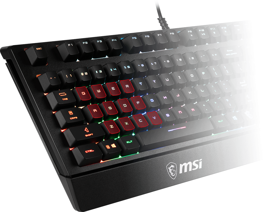 msi gk20 gaming keyboard design