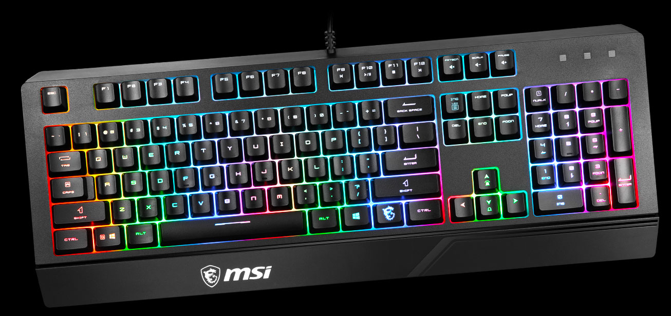 msi gk20 gaming keyboard keycaps